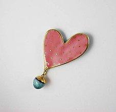Odznaky/Brošne - Tana šperky - keramika/zlato - 10636254_
