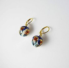 Náušnice - Tana šperky - keramika/zlato - 10637207_