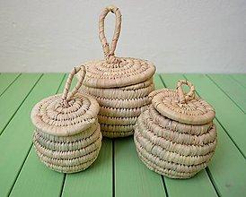 Krabičky - Šperkovnica, Košíček, Pletená nádoba - 10638376_