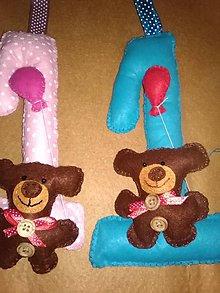 Hračky - Prvé narodeninky- dekorácia z filcu, číslo - 10637214_