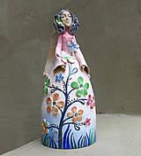 """Dekorácie - """"Rozkvitnutá """" - maľovaný zvonec - 10637373_"""