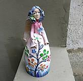 """Dekorácie - """"Rozkvitnutá """" - maľovaný zvonec - 10637375_"""