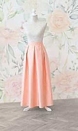 Sukne - MAXI skladaná sukňa s vreckami - 10637550_