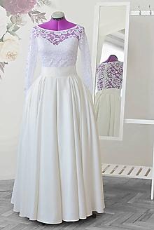 Šaty - Svadobná sukňa   (obvod pásu nad 100cm) - 10637876_