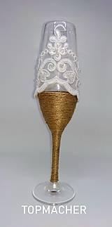 Nádoby - Jutové svadobné poháre III - 10638566_