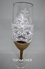 Nádoby - Jutové svadobné poháre III - 10638568_