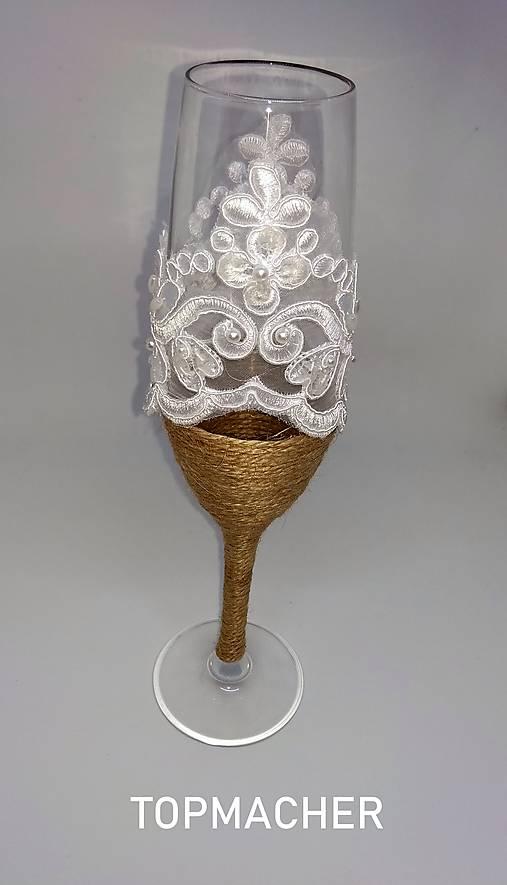 Jutové svadobné poháre III