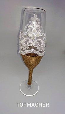 Nádoby - Jutové svadobné poháre III - 10638565_