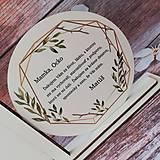 Dekorácie - Poďakovanie rodičom 11 + mená a dátum - 10638509_
