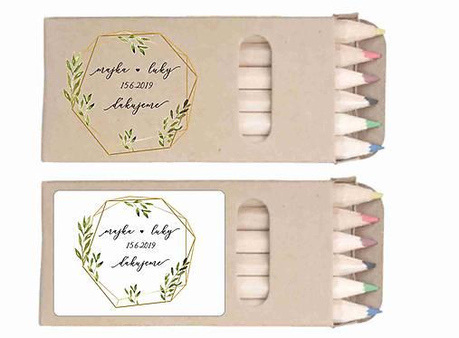 Svadobné farbičky Kity 2 - darček pre hostí