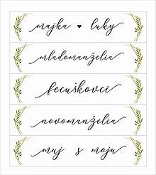 Tabuľky - Svadobná tabuľka na auto - špz 37 - 10638496_