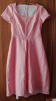 Šaty - Ľanové šaty - 10638553_