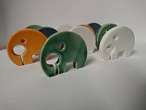 Socha - Keramické sloniky  (Oranžová) - 10637015_