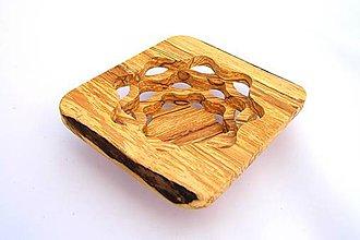 Nádoby - Drevená miska 15cm špaltovaná jelša - 10636215_