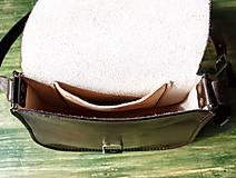 Kabelky - Kožená retro kabelka *čokoláda* - 10637288_