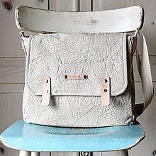 Veľké tašky - Ľanová crossbody taška - 10637227_