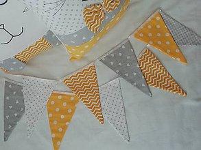 Textil - GIRLANDA - žltosivá - 10636476_