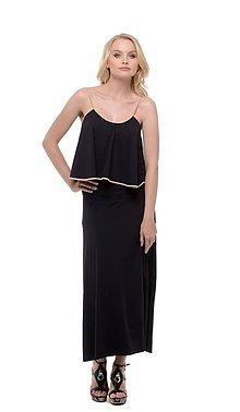 Šaty - Dlhé šaty s volánom - 10638096_