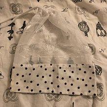 Úžitkový textil - Zero waste Aj aj vrecúško  (Hnedé bodky) - 10638165_