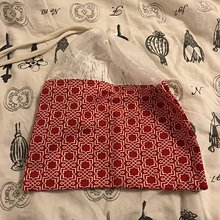 Úžitkový textil - Zero waste Aj aj vrecúško  (Červené ornamenty) - 10638173_