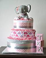 Detské doplnky - Plienková torta Tea - 10636385_