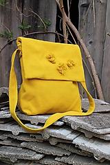 Kabelky - žltá belka - 10636681_
