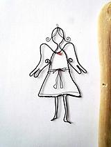 Dekorácie - anjelik v šatách - 10636051_