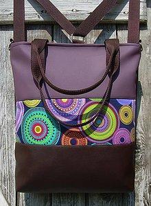"Batohy - ""backpack 3in1- circles in lilac"" - Batoh & taška cez rameno - 10637252_"