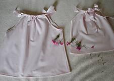 Detské oblečenie - Ružový top pre dievčatko aj mamičku - 10637265_