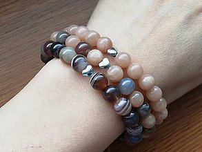 Náramky - Náramok slnečný kameň - 10638847_