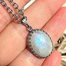 Náhrdelníky - Vintage Filigree Moonstone Pendant / Filigránový prívesok s mesačným kameňom /2067 - 10639764_