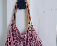 """Veľké tašky - Sieťka s koženými rúčkami """"F_09"""" - 10638827_"""