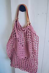 """Veľké tašky - Sieťka s koženými rúčkami """"F_09"""" - 10638828_"""