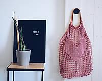 """Veľké tašky - Sieťka s koženými rúčkami """"F_09"""" - 10638829_"""