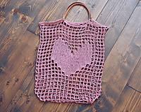 """Veľké tašky - Sieťka s koženými rúčkami """"F_09"""" - 10638830_"""