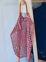 """Veľké tašky - Sieťka s koženými rúčkami """"F_09"""" - 10638831_"""