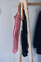 """Veľké tašky - Sieťka s koženými rúčkami """"F_09"""" - 10638833_"""