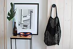 """Veľké tašky - Sieťka s koženými rúčkami """"F_09"""" - 10638841_"""