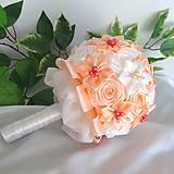 Kytice pre nevestu - Na svadbu - kytica pre nevestu Marhuľka - 10639125_