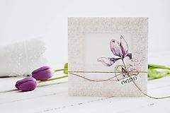 Papiernictvo - Gratulačný pozdrav - kvety iris - 10639200_
