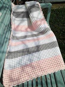 Textil - Háčkovaná deka - 10638951_