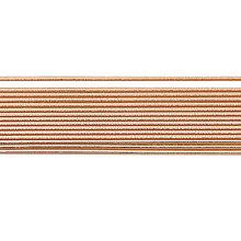Polotovary - Voskové pruhy 200 mm Ø 3 mm ružové zlato lesklé - 10639109_