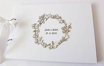 Papiernictvo - svadobná kniha hostí - 10640563_