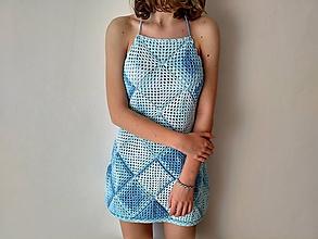 Šaty - Háčkované letné šaty - 10640339_