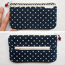 Peňaženky - Peňaženka-Modrá s guličkami - 10640113_