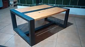Nábytok - industrialny stolik - 10638992_