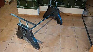 Nábytok - Ocelova podnoz stola Wenge - 10638973_