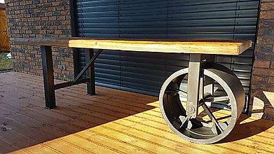 Nábytok - Kolesova podnoz jedalenskeho stola - 10639008_