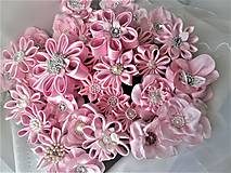 Iné doplnky - Saténové kvety - 10640228_