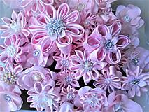 Iné doplnky - Saténové kvety - 10640229_